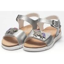 Lelli Kelly Girls Unicorn Metallic Silver Sandals