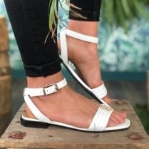Tommy Hilfiger Ladies White Sandal