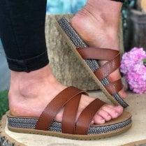 Blowfish Ladies Frenchy B Tan Sandals