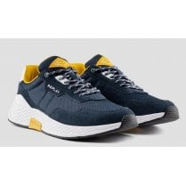 Replay Mens Classic Check Navy Trainers