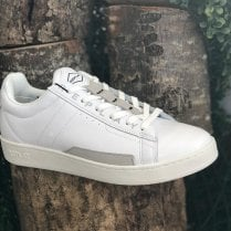 Replay Mens Classic Cap White Leather Trainers