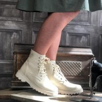 Una Healy Act Naturally Pale Stone Beige Boots