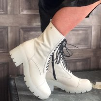 Una Healy Have To Love Neutral Calf Length Boots
