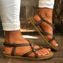 Blowfish Ladies Mallorca Dark Brown Strappy Sandals