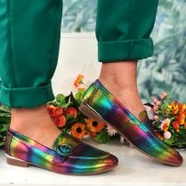 Moda In Pelle Fina Ladies Rainbow Leather Loafer