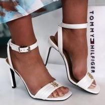 Tommy Hilfiger Ladies White High Heel Sandals
