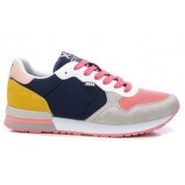 Xti Ladies Navy/Yellow/Pink Trainers
