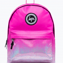 Hype Kids Holo Speckle Fade Pink Backpack