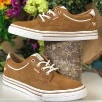 Mustang Mens Tan Suede Lace Up Trainers