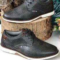 Morgan & co Mens Grey Casual Lace Up Shoe