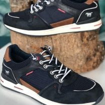 Mustang Mens Navy Lace Up Trainers