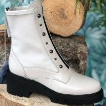 Unisa Ladies Jarbe Ivory Lace Up Boots