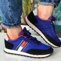 Tommy Hilfiger Jeans Ladies Court Blue Trainers