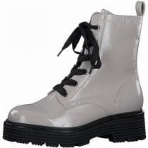 Tamaris Ladies Grey Patent Biker Boots