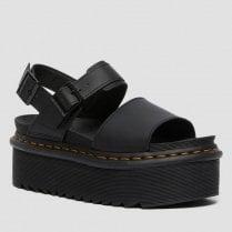 Dr Martens Ladies Voss Black Platform Sandals