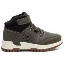 Xti Kids Khaki Velcro Walking Boot