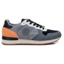 Xti Ladies Light Grey Combination Lace Up Trainer