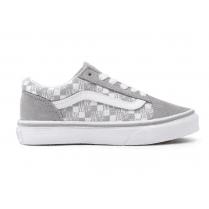 Vans Kids Checkerboard Old Skool Grey Shoes