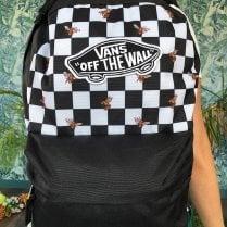Vans Realm Black Checkerboard Bee Backpack