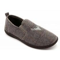 Padders Mens Huntsman Grey Combi Slippers