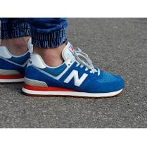 New Balance Mens 574 Indigo and Blue Sneakers