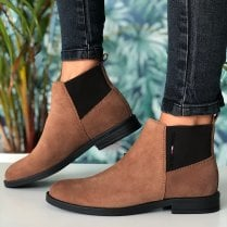 Tommy Hilfiger Ladies Essentials Winter Cognac Chelsea Boots