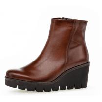 Gabor Ladies Chestnut Brown Wedged Heel Boots