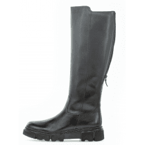 Gabor Ladies Knee High Black Leather Sport Boot