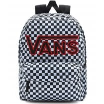 Vans Realm Flying V Black Check Backpack