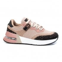 Xti 43445 Pink/Black Soft Knit Trainer
