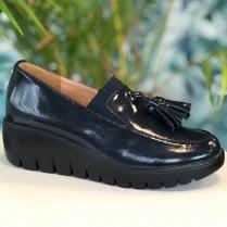 Kate Appleby Ladies Salisbury Sapphire Navy Wedge Loafer