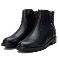 Xti Ladies Black Quilted Ankle Boot