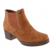Susst Ladies Dusty Tan Suede Ankle Boots