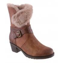 Susst Ladies Elsa Tan Calf Length Boot