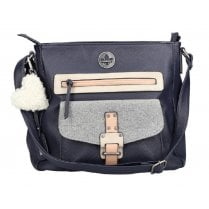 Rieker Ladies H1362 Navy Shoulder Strap Handbag
