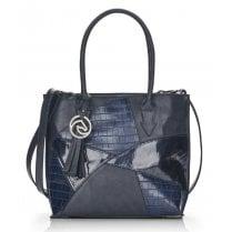 Remonte Ladies Navy Scale Print Shoulder Strap Bag