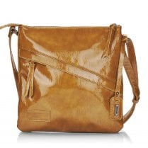 Remonte Ladies Dark Mustard Patent Handbag