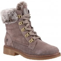 Hush Puppies Ladies Florence Taupe Ankle Boots