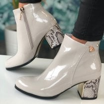 Kate Appleby Ladies Dalston Grey Snake Heel Boots