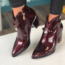 Kate Appleby Ladies Alness Burgundy Diamante Trim Boot