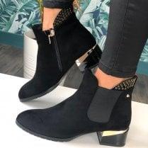 Kate Appleby Ladies Acle Ladies Black Faux Suede Ankle Boots