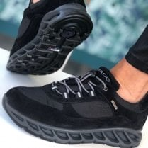 Igi & Co Ladies Black Toggle Lace Walking Trainers