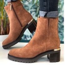 Tommy Hilfiger Ladies Brown Outdoor Mid Heel Boots