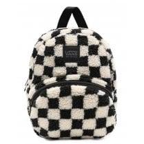 Vans Black Checkerboard Sheep Fluffy Backpack