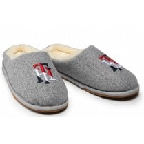 Tommy Hilfiger Ladies Grey Embroidery Home Slipper