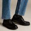 Clarks Un Abode Strap Mens Casual Smart Shoes - Black Leather