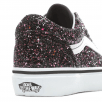 Vans Kids Old Skool Glitter Stars Lace Up Trainers Shoes - Black Multi