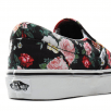 Vans Girls Garden Floral Classic Slip-On Trainers Shoes - Black/Multi