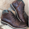 Lloyd & Pryce - Tommy Bowe Lloyd & Pryce Mens Clarkson Russet Brown Lace Up Ankle Boots