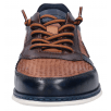 Bugatti Mens Silvan Cognac and Navy Elasticated Lace Shoe
